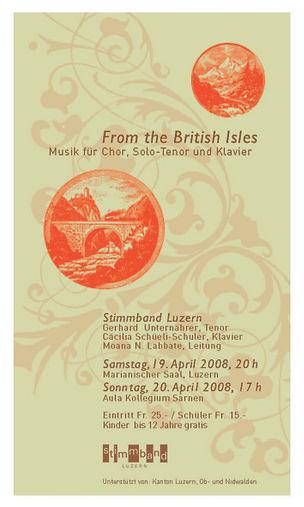 Plakat - From the British island 2008.jp