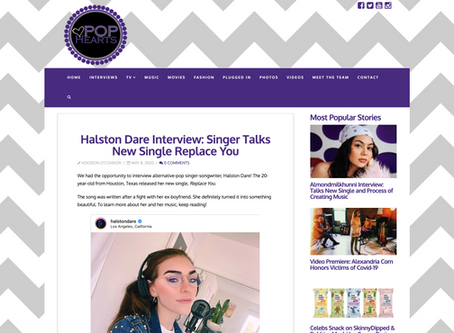 Pop Hearts TV: Singer Talks New Single Replace You