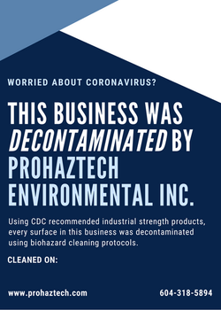 This business was decontaminated by ProH