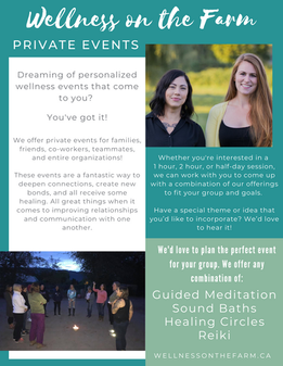 Wellness on the Farm Private Events Flye