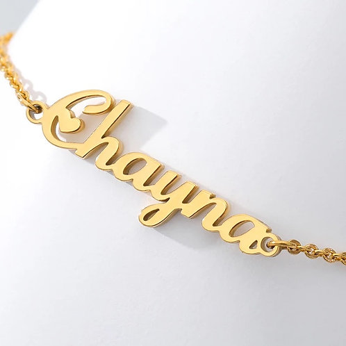 CLASSIC NAMEPLATE ANKLET.