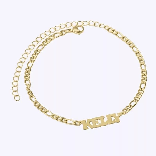 CLASSIC NAMEPLATE CHAIN ANKLET.