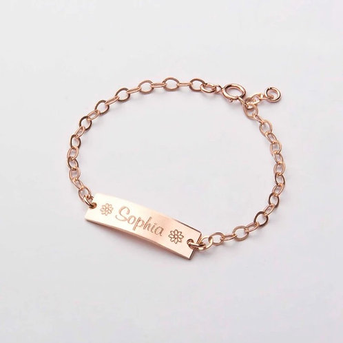 SOLID BABY CHAIN BRACELET.