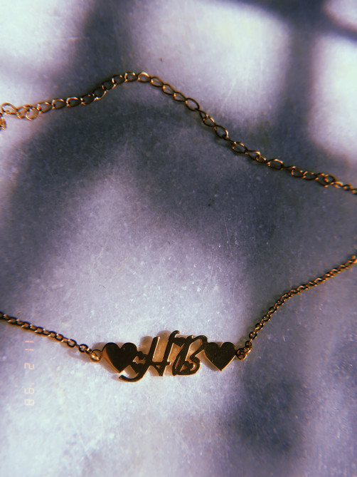 CLASSIC x HEARTS NAMEPLATE ANKLET