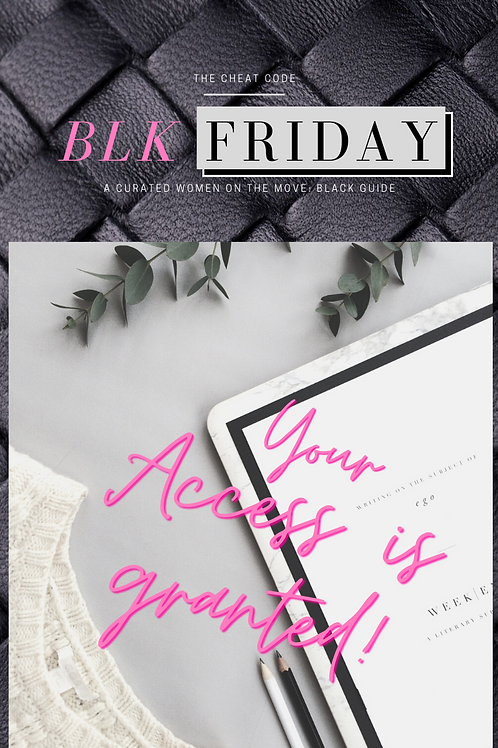 BLK FRIDAY - THE CHEAT CODE GUIDE
