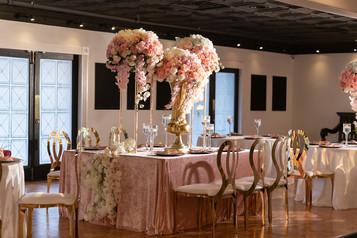 Wedding dinner view