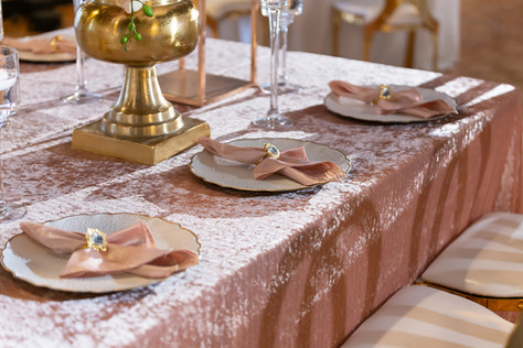 Wedding dinner setting