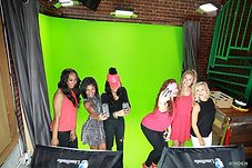 Green screen team building activity