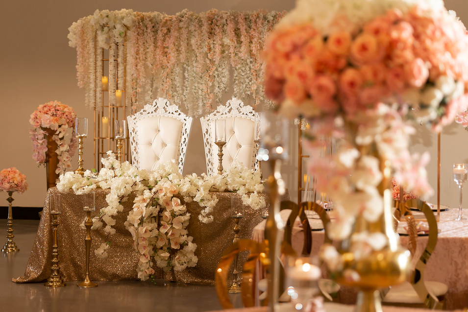 View to bridal table