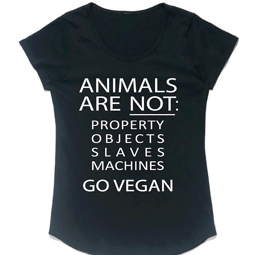 ANIMALS ARE NOT PROPERTY - Womans Tee