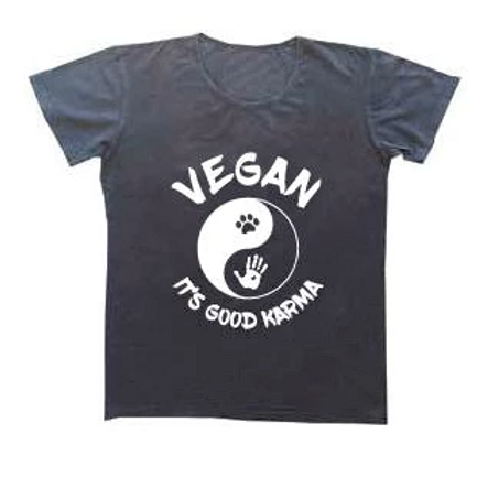 VEGAN KARMA - Mens Tee (Dark Grey)