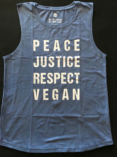 Justice - Mens Muscle Tee BLUE