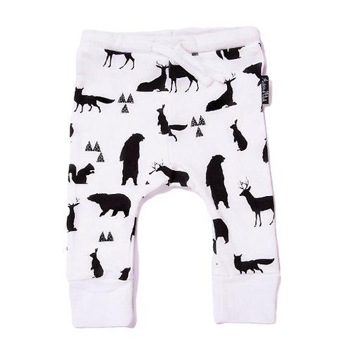 SILHOUETTE ANIMALS - Organic baby Pants