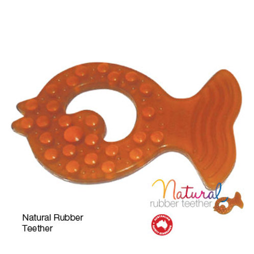 Natural Rubber Teether - Fish Shape