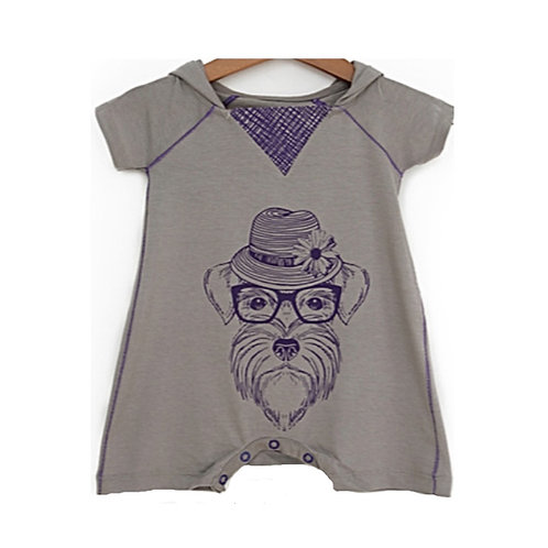 Charming Schnauzer - Baby Overall With Hoodie