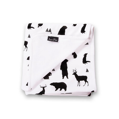 SILHOUETTE ANIMALS - Organic Baby Wrap Blanket