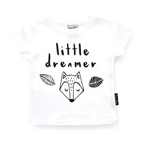 LITTLE DREAMER-  WHITE Tee Organic Cotton