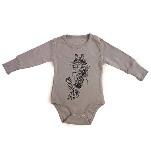 Giraffe Pilot - Long Sleeve Bodysuit