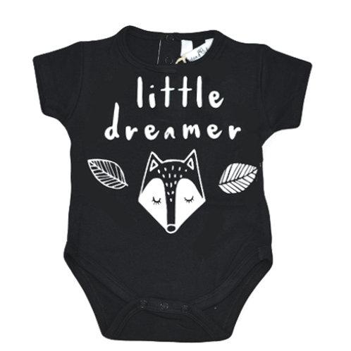 LITTLE DREAMER - Onsie Bodysuit BLACK