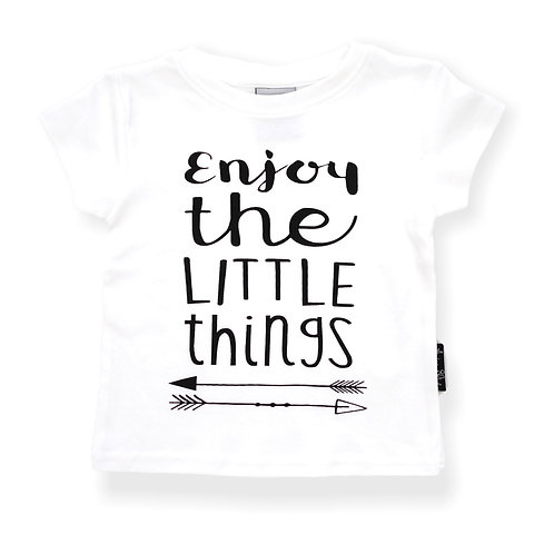 ENJOY THE LITTLE THINGS - WHITE Tee Organic Cotton