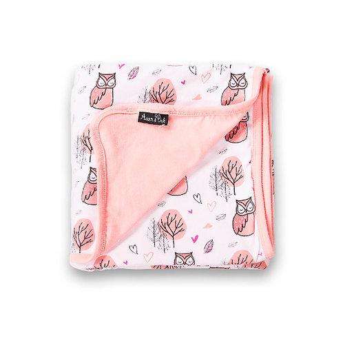 LITTLE OWL - Organic Baby Wrap Blanket