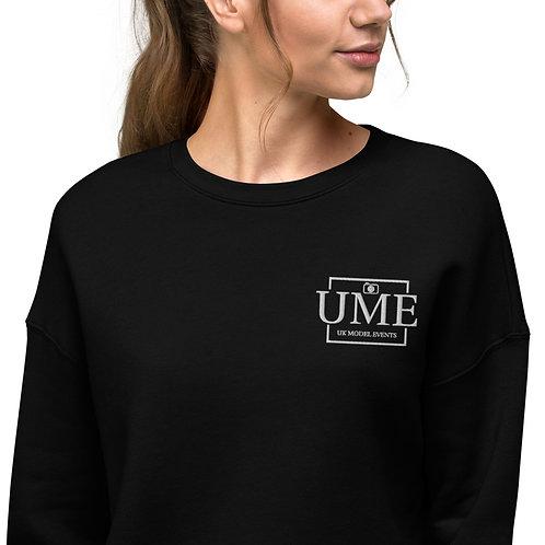 UME Embroidery Crop Sweatshirt