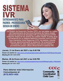 Spanish January Provider & Parent IVR Tr