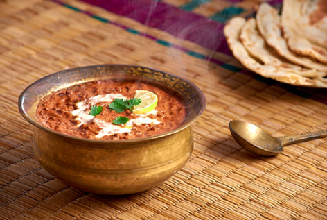 Dal Makhani with Indian breads