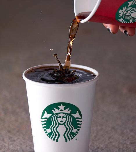 Starbucks coffee splash photography