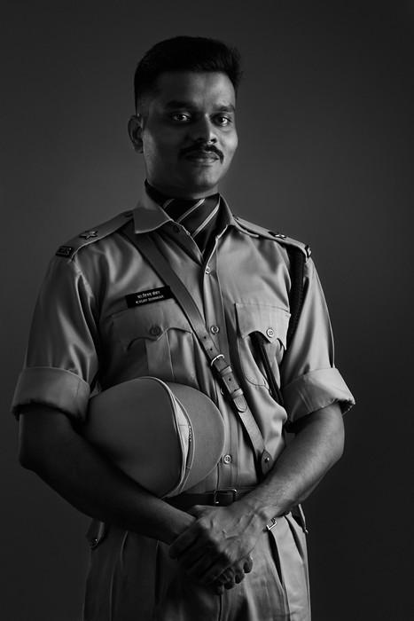 Police officer portrait