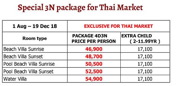 FUSHIFARU - Thai Exclusive 3N Package an