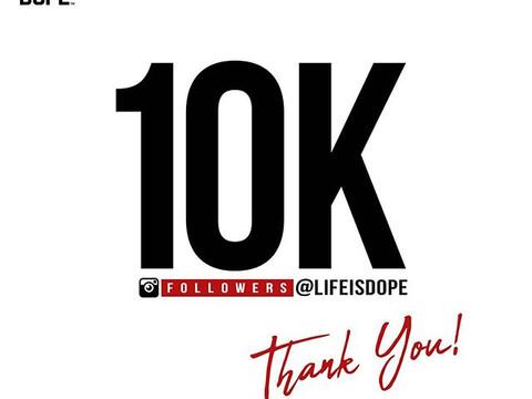 Follow us at @LifeIsDope 🗣THANK