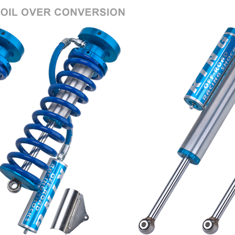 """F-250 2.5"""" Remote Coilovers and Piggyback Shocks"""