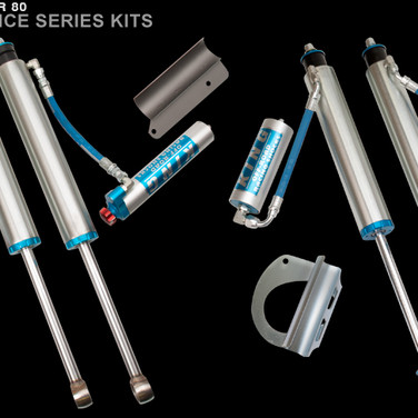 """LC80 2.5"""" Remote Coilover/Shocks with adjusters Kit"""