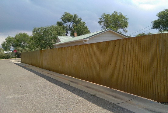 Rusty Corrugated Fence Privacy