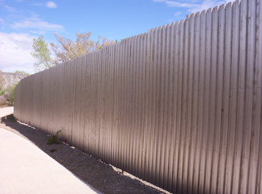 Rusty Corrugated Privacy (Before Rusting)
