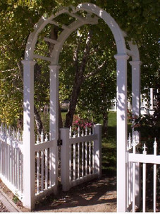 Hoop Arbor with Picket Fence