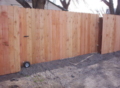 Rolling Wood Privacy Gate