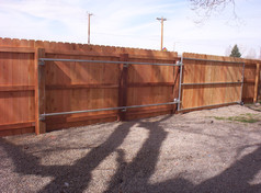 Rolling Wood Privacy Gate (Backside)