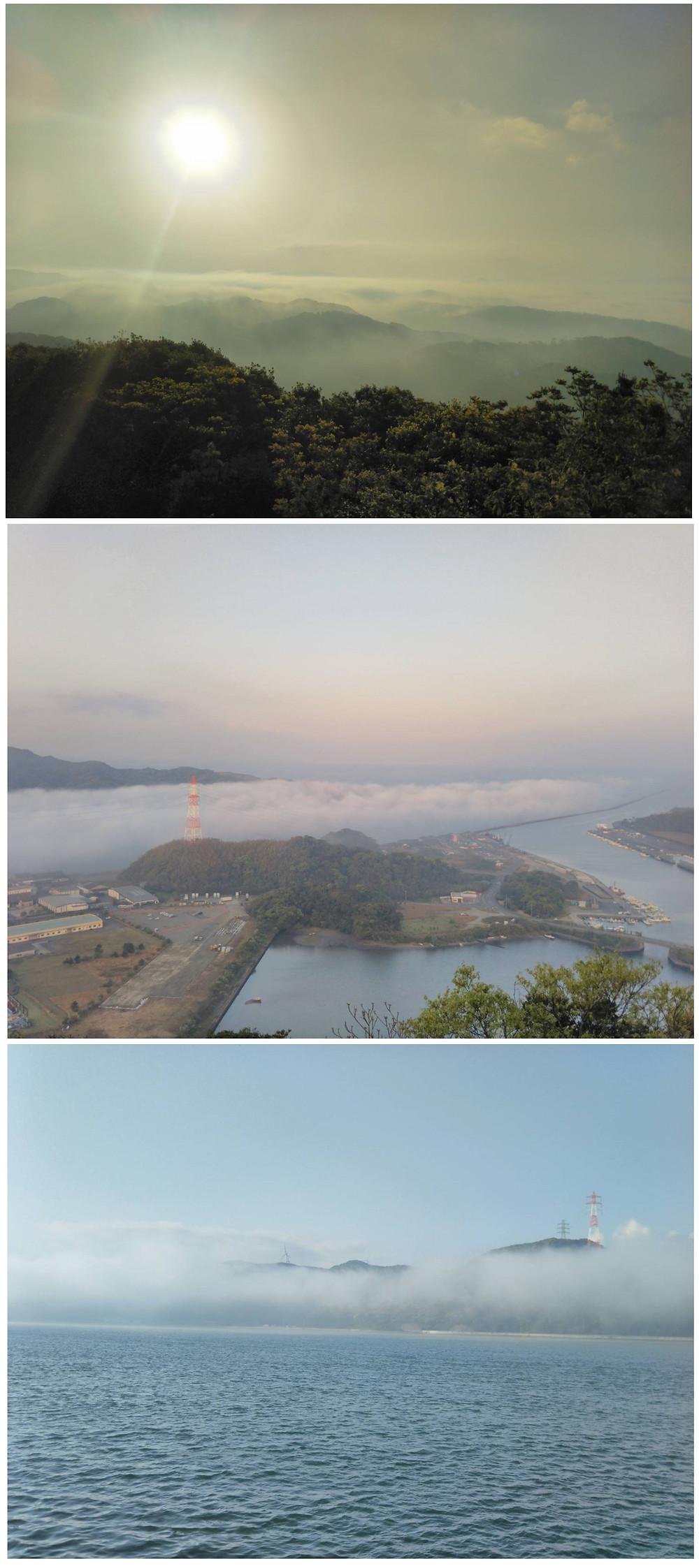 矢島さんが撮影した月屋山からの様子