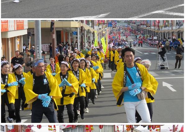 薩摩川内はんや祭りに参加しました