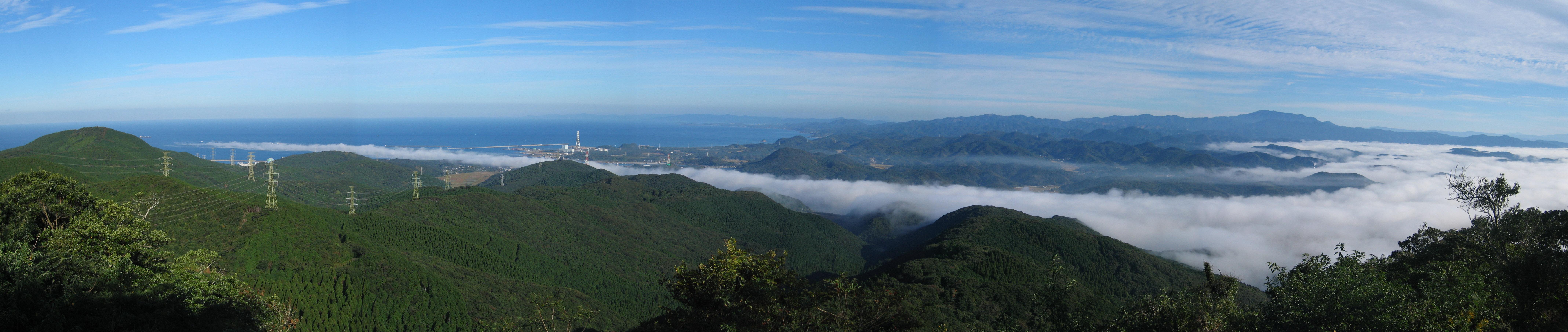 12'10'24'08'00柳山から見た川内川の川霧
