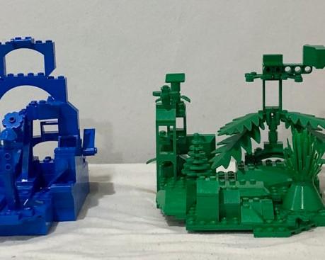 Zander Jeney - Monochromatic LEGO Abstracts (Yellow, Blue, Green, Red)