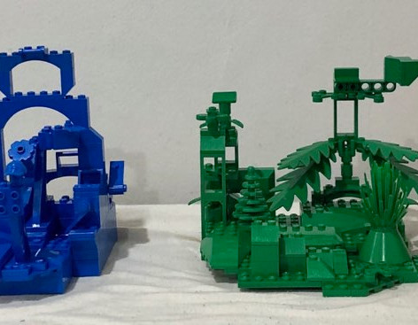 Zander Jeney - Monochromatic LEGO Abstracts (Yellow, Blue, Green, Red)