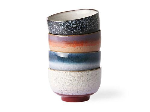 Bowl de cerámica esmaltada multicolor de HK Living. Varios diseños. D.13,5 x h8