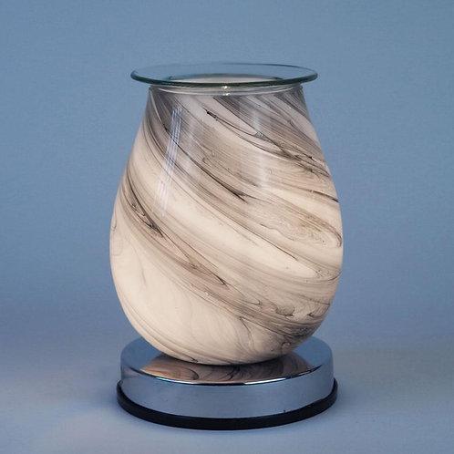 Grey Swirl Electric Wax Melt Burner