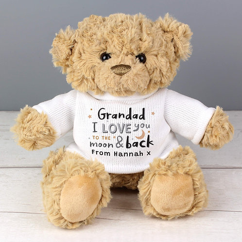 Personalised To the Moon and Back Teddy Bear Personalised To the Moon and Back