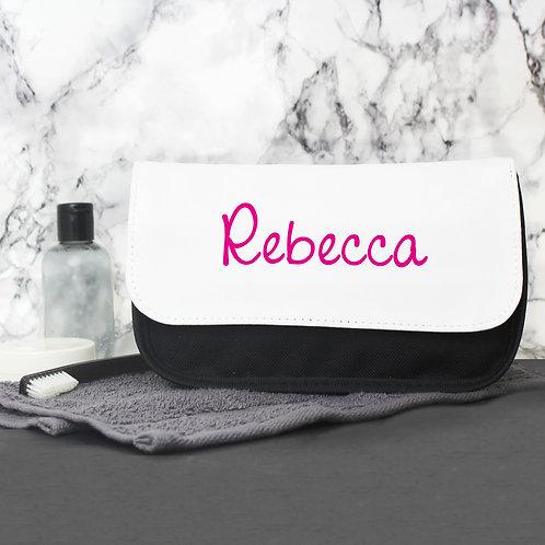 Personalised Pink Name Island Make Up Bag