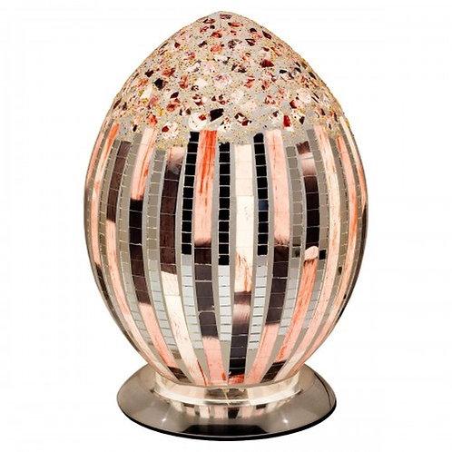 Art Deco Mosaic Glass Vintage Egg Table Lamp 30cm