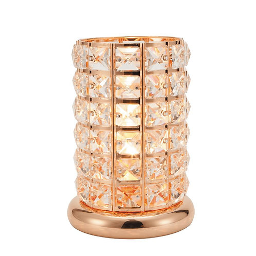 Rose Gold Crystal Touch Lamp Electric Wax Melt Burner